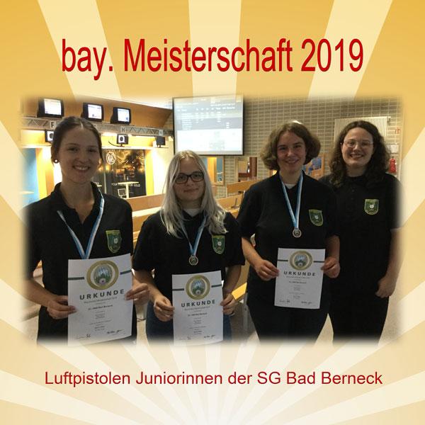 Luftpistolen Juniorinnen der SG Bad Berneck